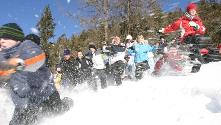 Erleben einen Boom: Schneesportlager Aargauer Schulen sind ausgebucht.