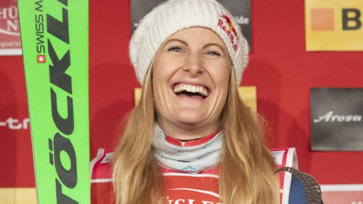 Fanny Smith sicherte sich zum Saison-Abschluss bei ihrem Heimrennen in Veysonnaz den Gesamt-Weltcup-Sieg