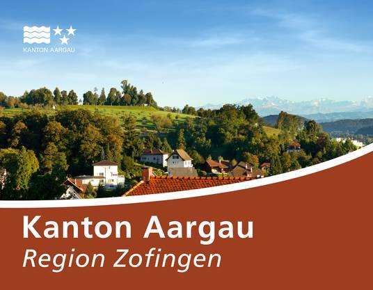 Strassenschild Kanton Aargau Region Zofingen