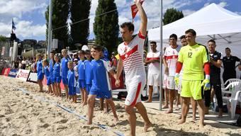 Star der Schweizer Beachsoccer-Szene: Moritz Jaeggy.