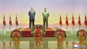 Feierlichkeiten zum 108. Geburtstag von Kim Il Sung - mit einem grossen Abwesenden: Der aktuelle Machthaber Kim Jong Un fehlte.
