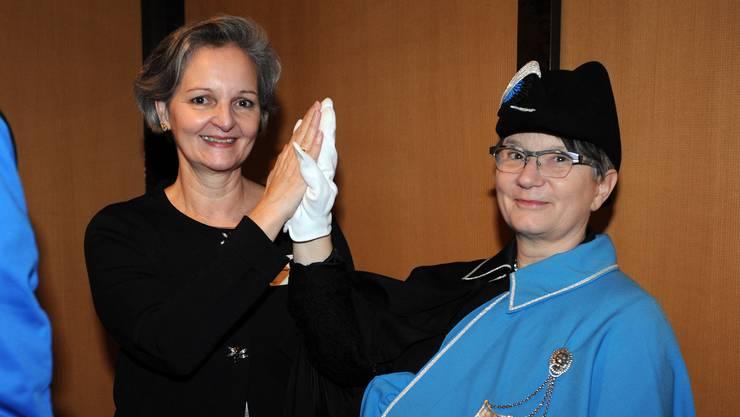 Renata Siegrist (GLP) erhielt in der Wahl zur Grossratspräsidentin 96 Stimmen. Klicken Sie sich durch die Bildergalerie und erfahren Sie, wie ihre Vorgängerinnen und Vorgänger abschnitten.