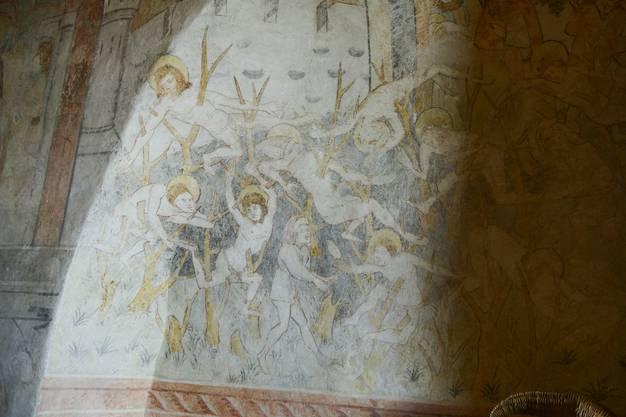 Der heilige Achatius und seine 10000 Ritter werden an Dornen aufgespiesst