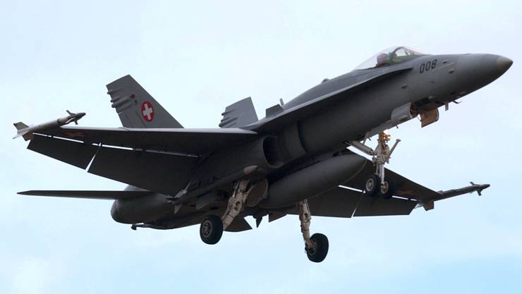 Die Zeit der F/A-18-Kampfjets muss ersetzt werden. (KEYSTONE/Sandro Campardo)