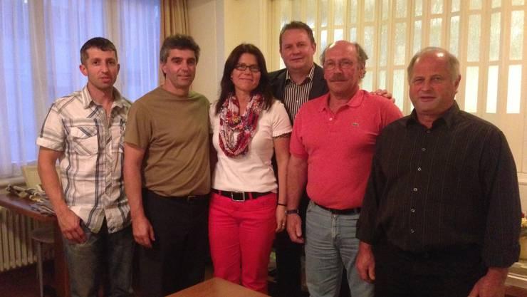 Ralph Hueber mit Parteimitgliedern