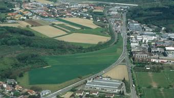 Hier kann Baden künftig wachsen: Der Grosse Rat hat die Einzonung Galgenbuck mit 117 Ja- gegen 9 Nein-Stimmen gutgeheissen. zvg