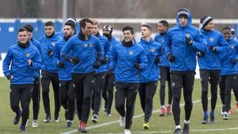 Alles ist bereit: Der FC Basel startet morgen in die Rückrunde.
