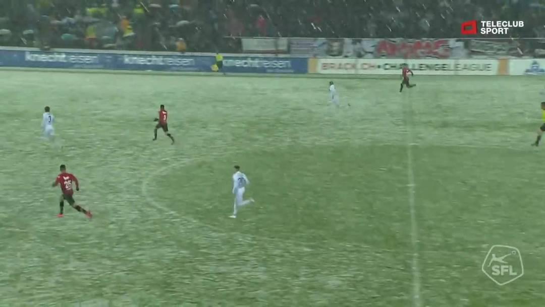 Challenge League, 2018/19, 32. Runde, FC Aarau – FC Lausanne-Sport, 36. Minute: Tor von Varol Tasar.