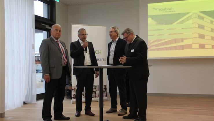 V. l.: Hans Bürge, Markus Schärer, Livio Plüss und Hanspeter Müller.