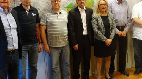 Der Gemeinderat: Simon Wirth, Rolf Stucki, Markus Nydegger, Marcel Balmer, Gisela Biesuz, René Rey und Peter Trombik. zvg