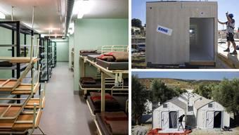 Ein unterirdisches Notspital, ein Ikea-Flüchtlingshaus oder doch ein Container?