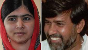 Erhalten den Friedensnobelpreis: Malala Yousafzay und Kailash Satyarthi.
