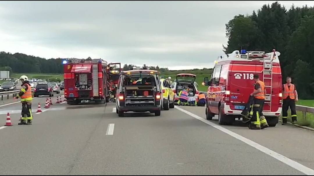 Oberbüren SG: Zwei Frauen bei Unfall auf A1 getötet