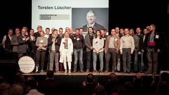 Die Mitglieder der gegründeten BNI-Unternehmergruppe Drei Tannen, Olten.
