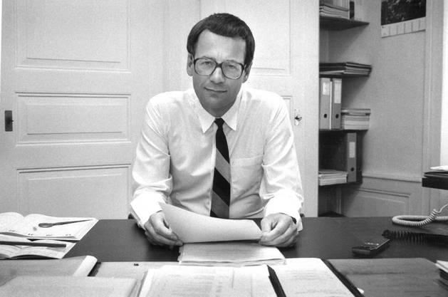 Fluri 1993 in seinem Büro.