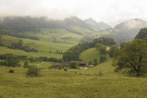 Der Biohof Spitzenbühl liegt sehr abgelegen in Liesberg.