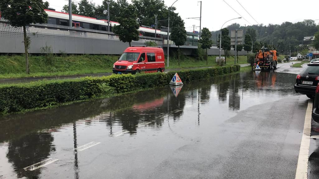 Schon wieder: Das Würzenbach-Quartier steht unter Wasser