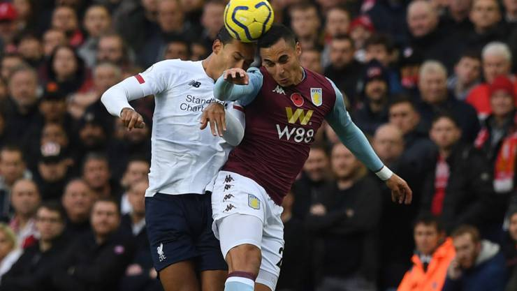 Liverpool mit Virgil van Dijk (links) lag gegen Aston Villa lange Zeit zurück