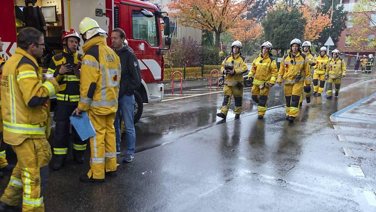 Die Genfer Feuerwehr stand in der Nacht auf Donnerstag im Dauereinsatz. Bei einem Löscheinsatz in einer Tiefgarage im Vorort Petit-Lancy am frühen Morgen wurde ein Feuerwehrmann verletzt.