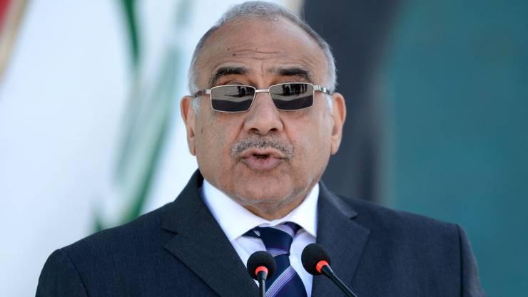 Angesichts der massiven Proteste im Land hat der irakische Präsident Adel Abdel Mahdi seinen Rücktritt angekündigt. (Archivbild)