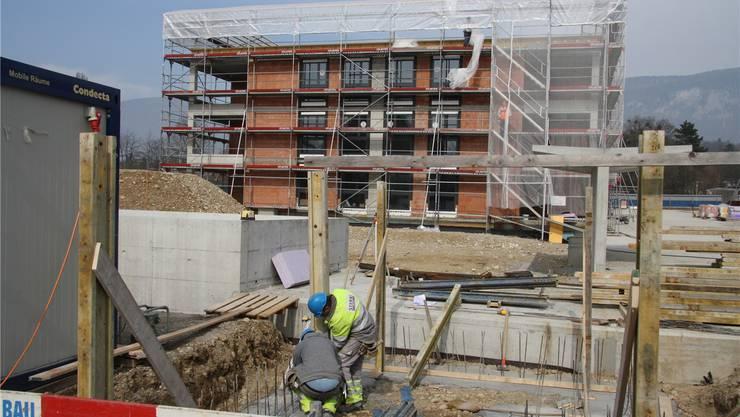 Die Überbauung Fegetz Süd – sie bietet bald 46 Wohnungen an – ist vorläufig die letzte Grossbaustelle in Solothurn.