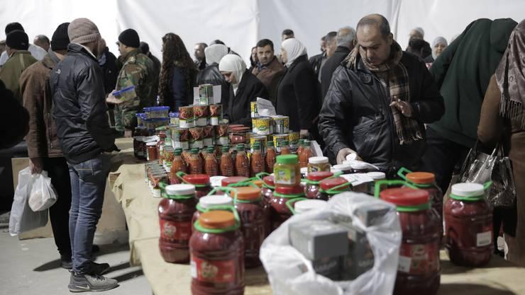 Werden täglich teurer: Lebensmittel in Syrien. (Bild: Keystone)