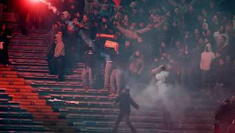 Fussball-Hooligans im Römer Olympiastadion (Archivbild von früher)