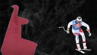 Marc Gisin war im ersten Abfahrtstraining auf der Streif als Siebter der klar beste Schweizer.