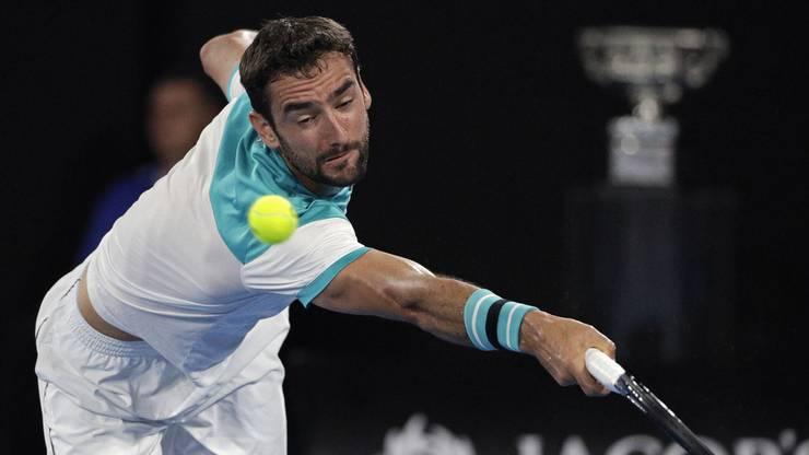 Chancenlos: Der 29-jährige Kroate gewinnt im ersten Satz gegen Federer lediglich zwei Games.