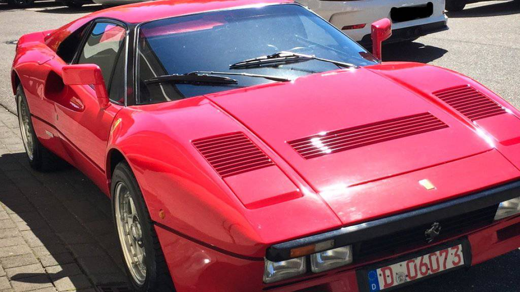 Der Wert des Ferrari 288 GTO, Baujahr 1985, wird auf mehr als zwei Millionen Euro geschätzt. (Archivbild)