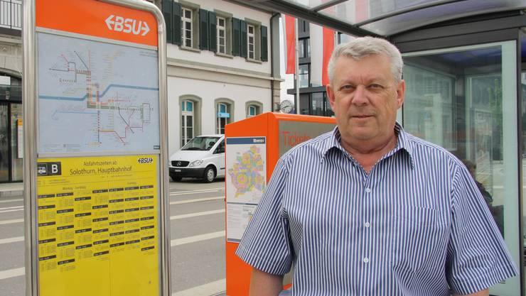 Robert Fürst hat fast 30 Jahre lang den Busbetrieb Region Solothurn BSU als Betriebsleiter begleitet. ww
