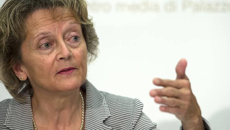 """Die Initiative """"Ja zum Schutz der Privatsphäre"""" würde aus Sicht von Finanzministerin Eveline Widmer-Schlumpf Steuerhinterziehung erleichtern."""