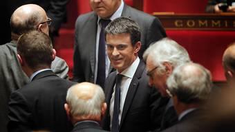 """Premierminister Manuel Valls zeigte sich nach der Abstimmung """"zufrieden"""" mit dem Ergebnis."""