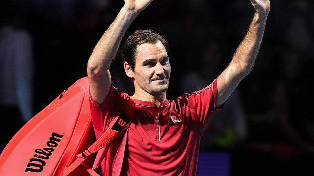 Roger Federer an den Swiss Indoors im Final