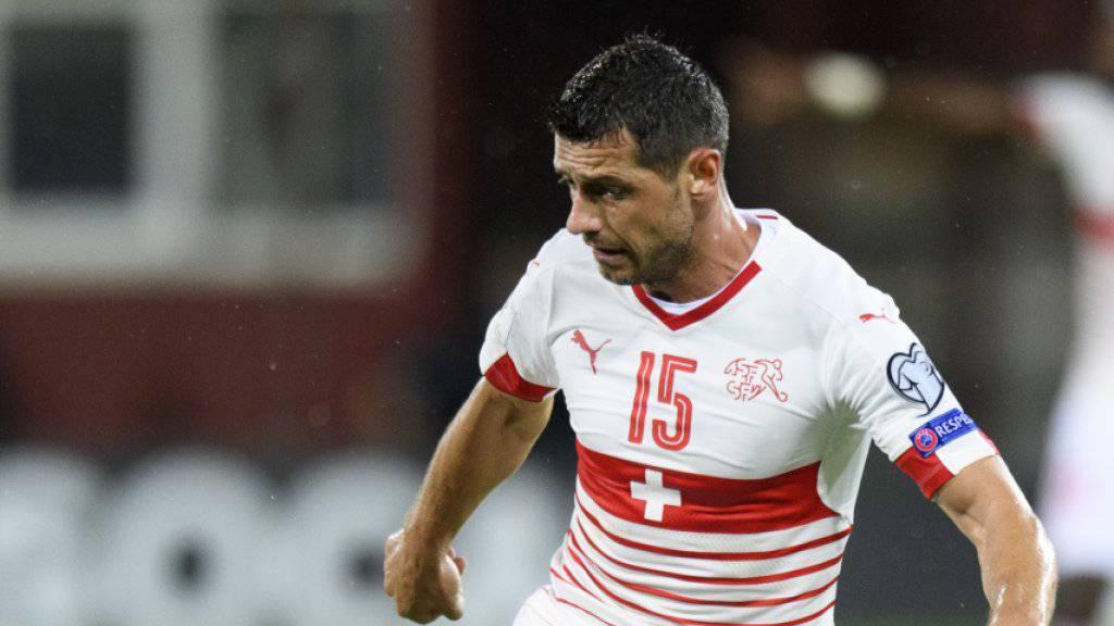 Blerim Dzemaili bereitet sich in Bologna auf die Spiele gegen Nordirland vor