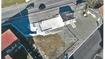 Hier sollen Buswartehaus, Regenbecken und Entsorgungsgebäude entstehen.