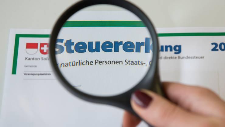Werden wohl bald im Aargau erfasst: Solothurner Steuererklärungen.