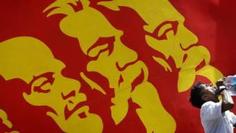 Lenin, Marx und Engels - Ikonen des Sozialismus.