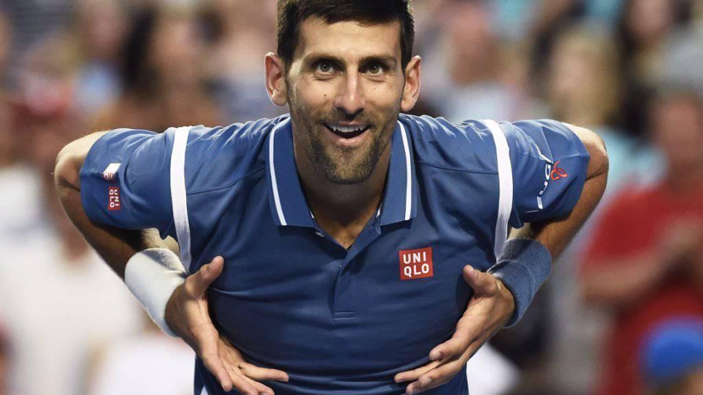 Novak Djokovic zelebriert auf seine Weise den Sieg gegen Gaël Monfils