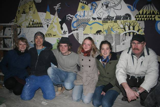 von links: Nora Strebel, Lucien Biolley, Sepp Muntwyler, Fanny Raffinger (Präsidentin), Isabel Peterhans und Andreas Raffinger