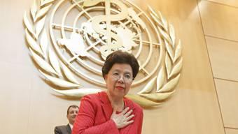 Stehende Ovation zum Abschied: Die WHO-Generalsekretärin Margaret Chan gibt den Stab nach zehn Jahren im Juli an einen Nachfolger oder eine Nachfolgerin.