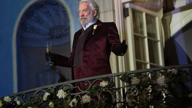 "Donald Sutherland im Film ""The Hunger Games: Catching Fire"""