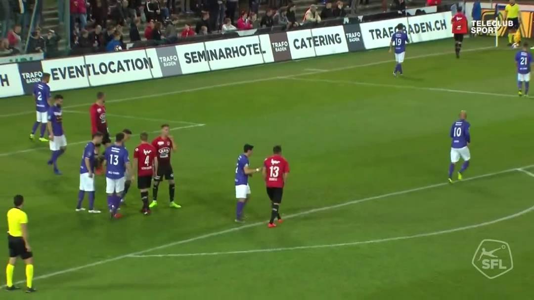 12. Minute: Das verdiente Tor zum 1:0 nach der ersten Druckphase. Stefan Maierhofer trifft nach einem Eckball von Markus Neumayr für den FC Aarau