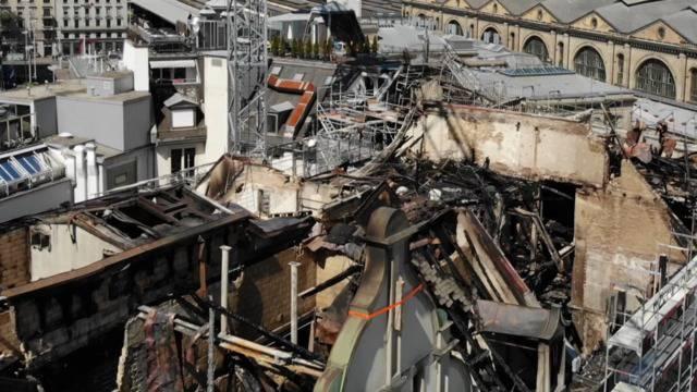 Brand in Zürich: Aufnahmen zeigen gewaltigen Schaden