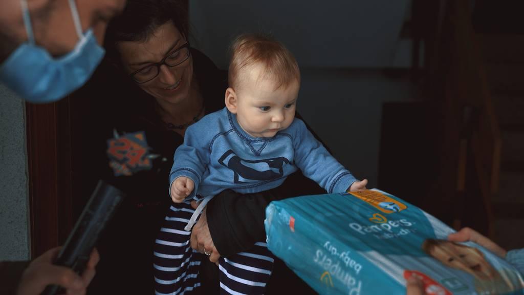 Jahresration Windeln für Familie Lehmann