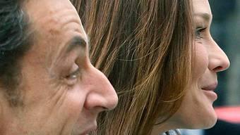 Nicolas Sarkozy mit Ehefrau Carla (Archiv)