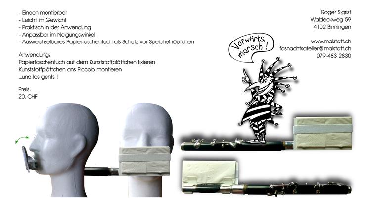 Der Flyer zum Piccoloschutz: Für 20 Franken kann man stolzer Besitzer des «Speischutz 20» werden.