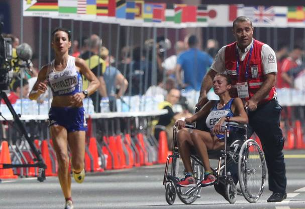 Giovanna Epis aus Italien musste aufgeben.