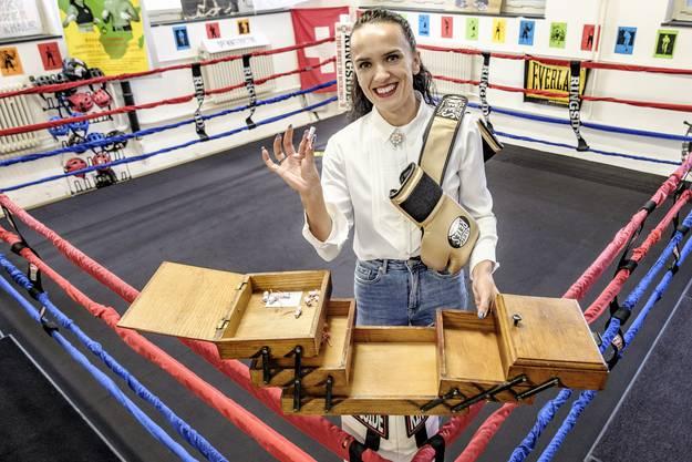 Gabi «Balboa» Timar im Ring des Boxclubs Basel.