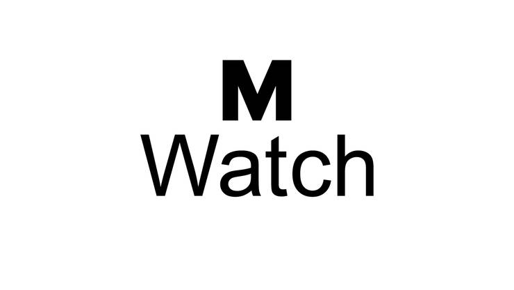 Mondaine und Migros verkaufen weiterhin Uhren unter der Marke M-Watch, aber mit je eigenem Logo. Hier das Migros Logo.